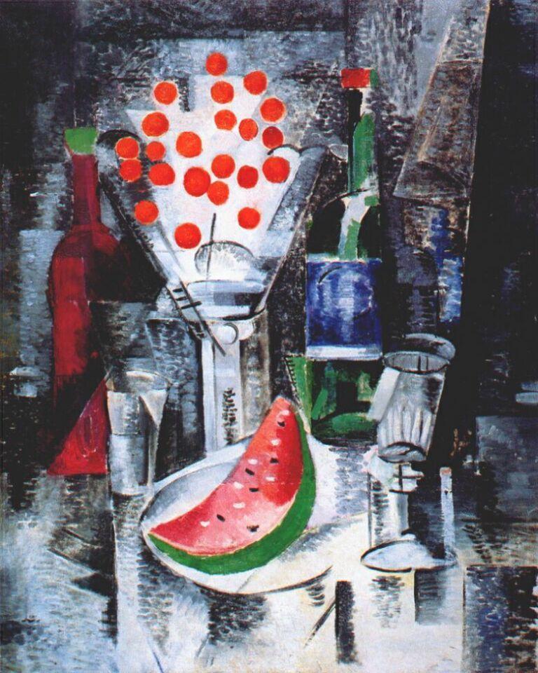 Still life, bowl of cherries - Aleksandra Ekster