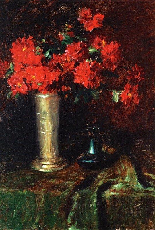 Still Life - Flowers - William Merritt Chase