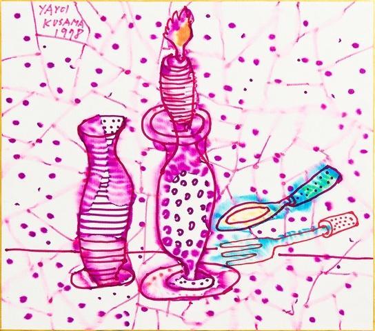 Still Life of Candlestick - Yayoi Kusama