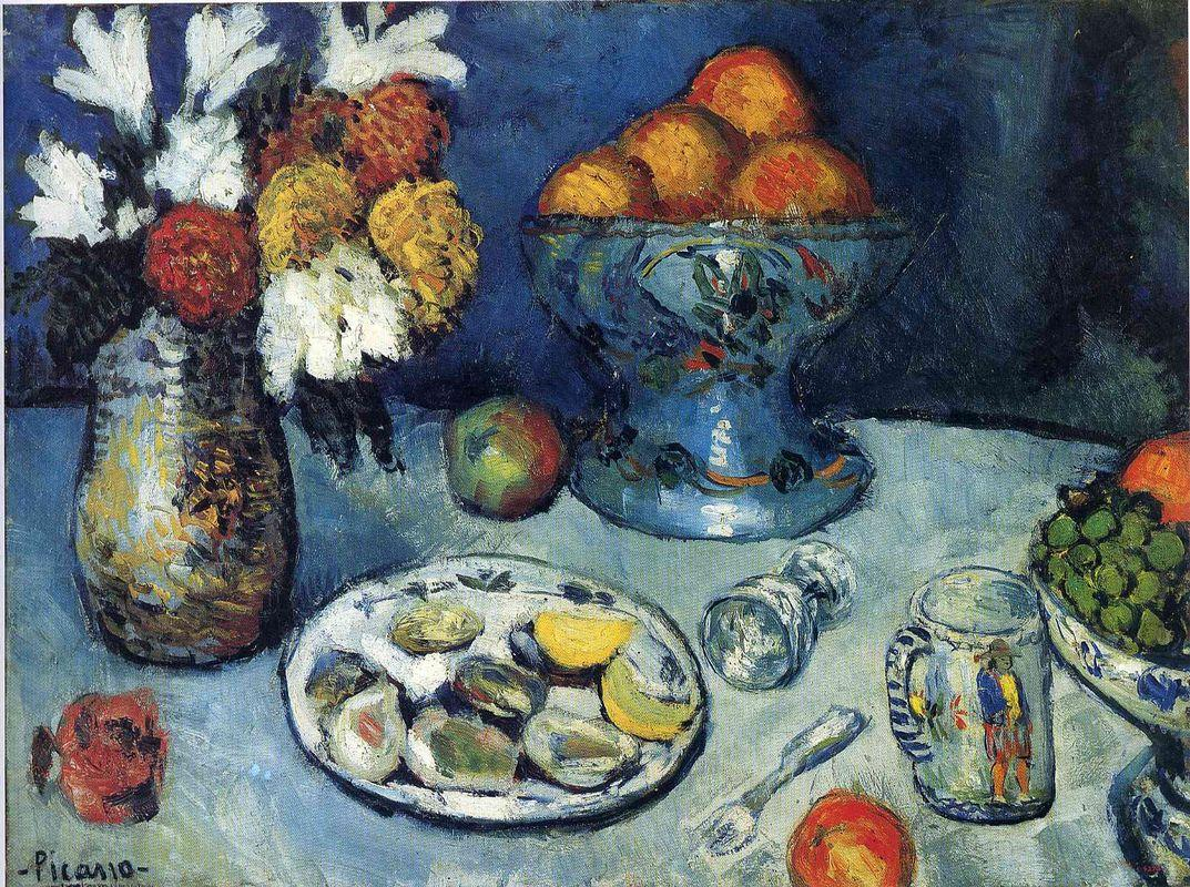 Still life (The dessert) - Pablo Picasso