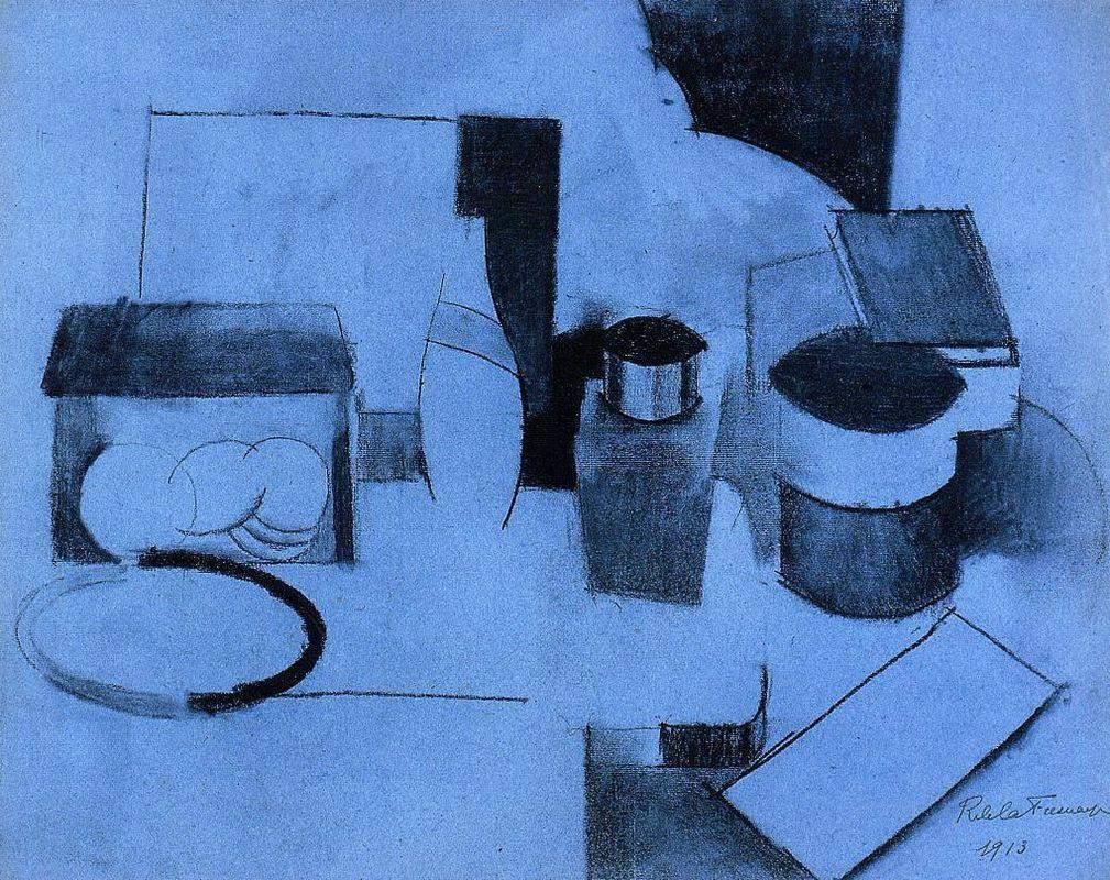 Still Life, Tin of Tea and Pot of Tobacco - Roger de La Fresnaye