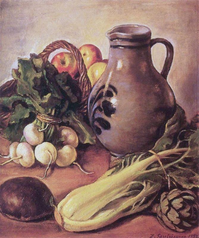 Still life with a jug - Zinaida Serebriakova