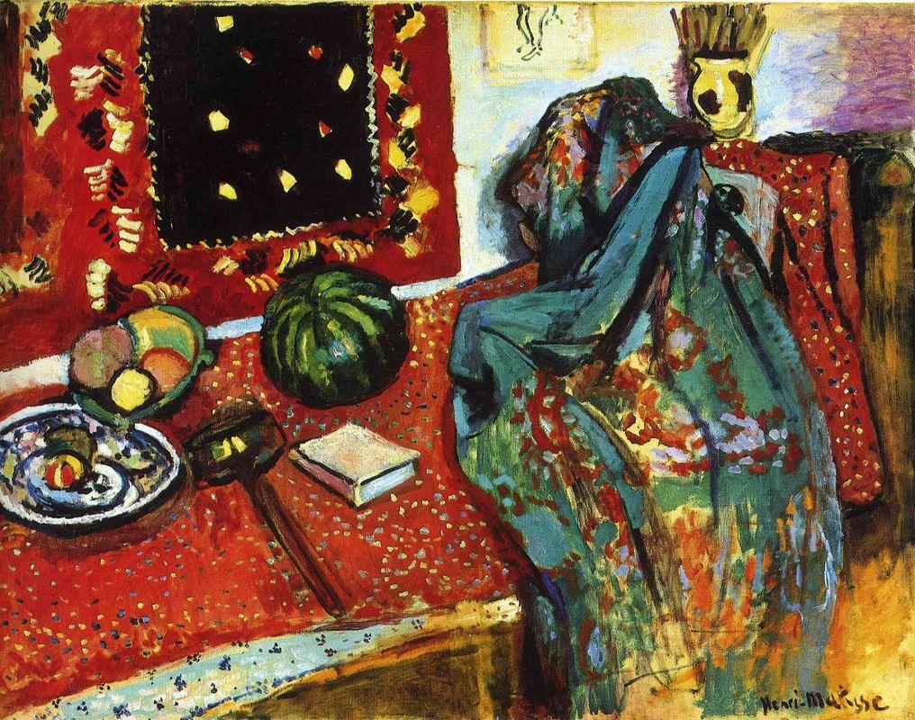 Still Life with a Red Rug  - Henri Matisse