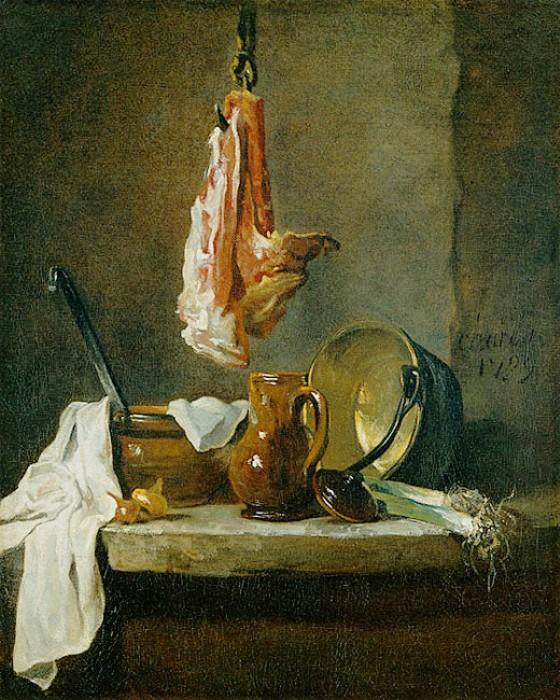 Still Life with a Rib of Beef - Jean-Baptiste-Simeon Chardin
