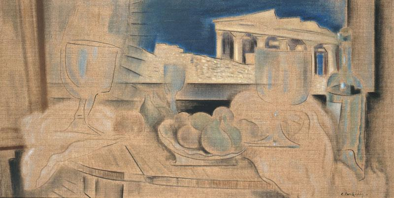 Still Life with Acropolis in the Background - Konstantinos Parthenis