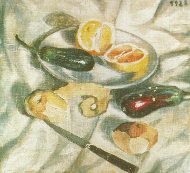 Still Life with Aubergines - Salvador Dali
