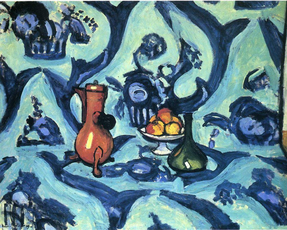 Still Life with Blue Tablecloth  - Henri Matisse