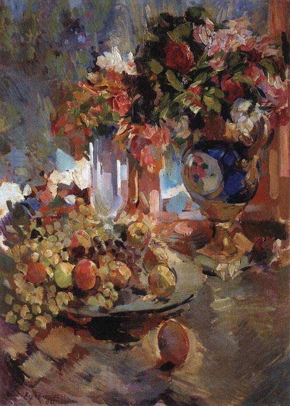Still Life with Blue Vase  - Konstantin Korovin