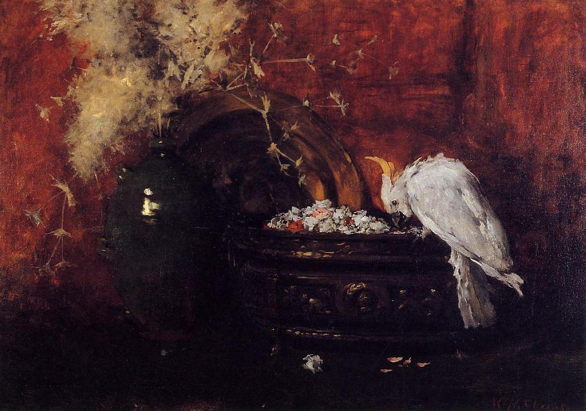 Still Life with Cockatoo - William Merritt Chase