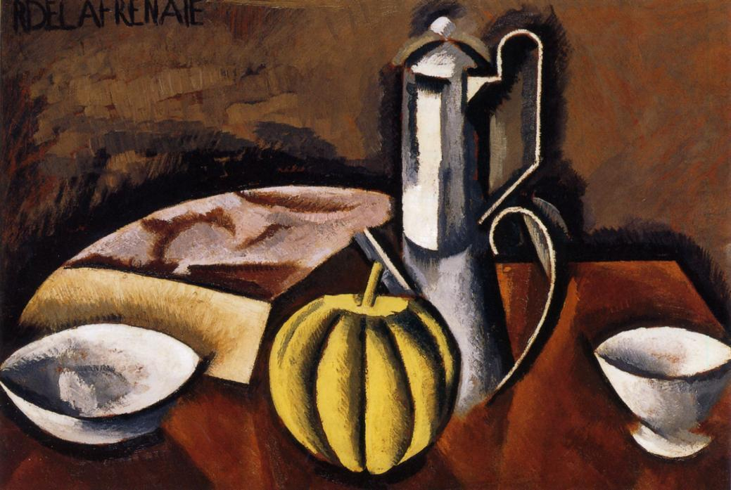 Still Life with Coffee Pot and Melon - Roger de La Fresnaye