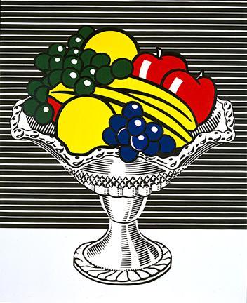Still life with crystal bowl - Roy Lichtenstein