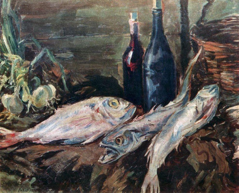 Still life with fish  - Konstantin Korovin