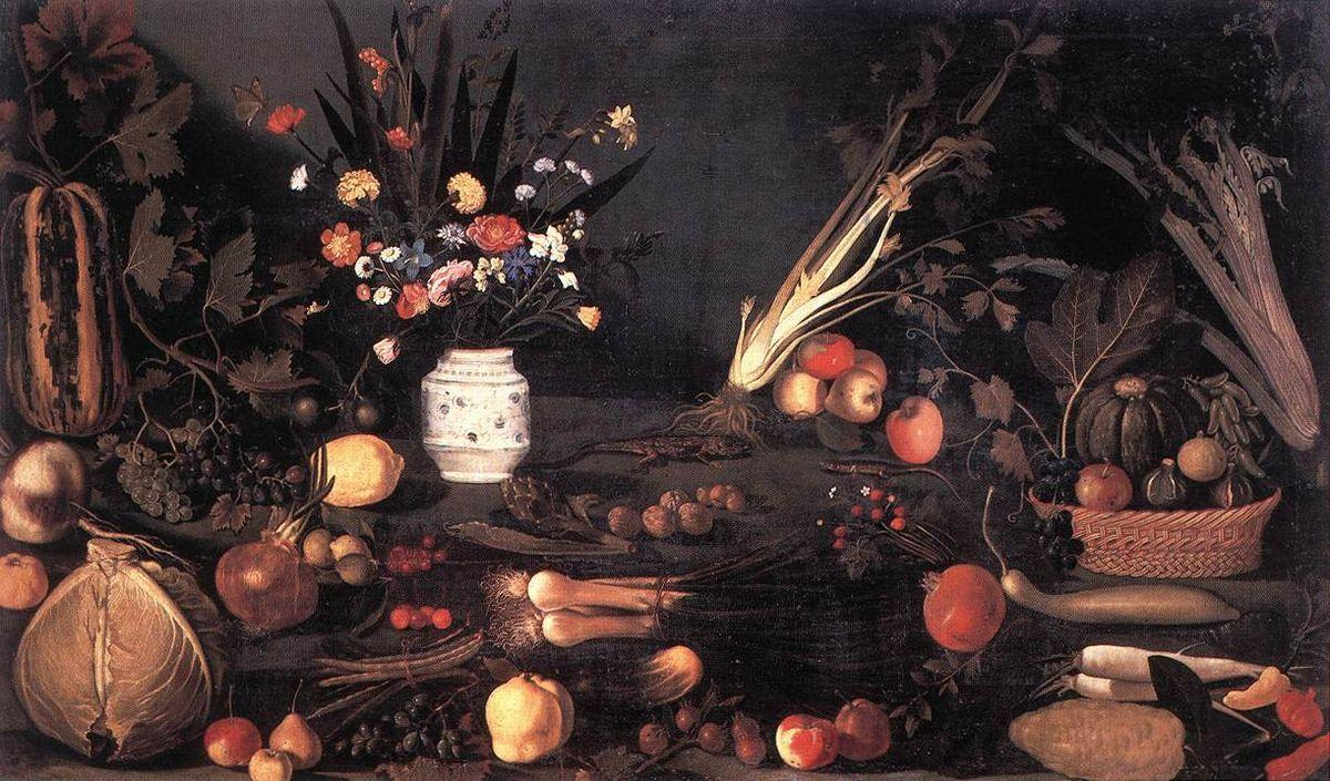 Still Life with Flowers and Fruit - Caravaggio