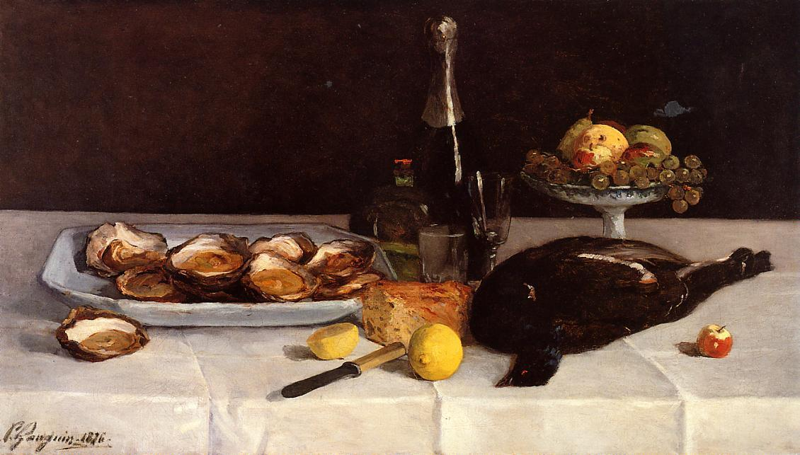 Still life with oysters - Paul Gauguin