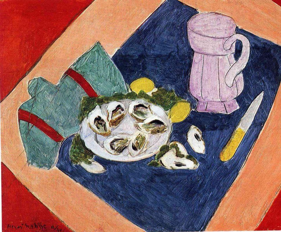 Still Life with Oysters - Henri Matisse