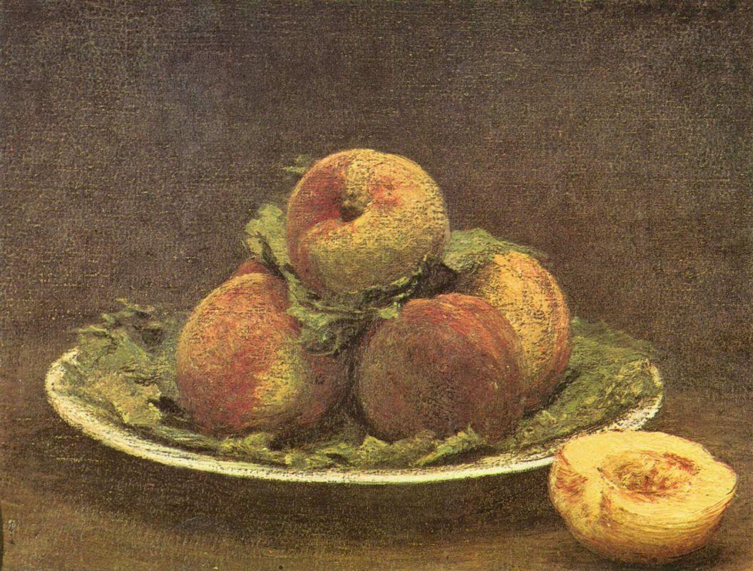 Still life with peaches - Henri Fantin-Latour