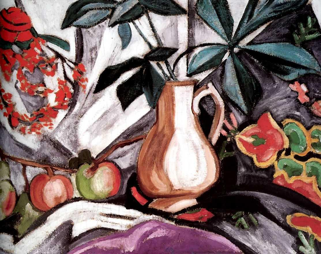 Still Life with Peatcher and Apples - Olga Rozanova