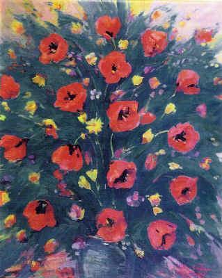 Still Life with Poppies - Martiros Saryan