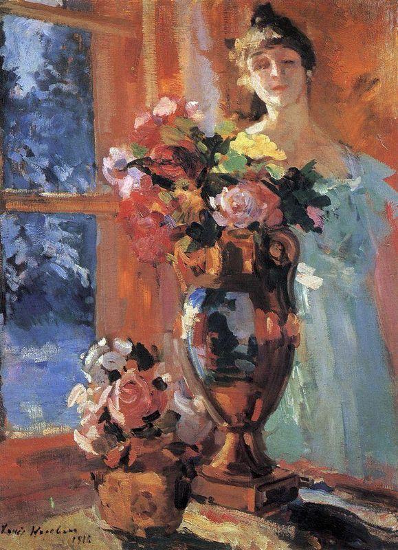 Still life with portrait of Pertseva  - Konstantin Korovin