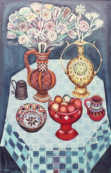 Still Life with Red Apples - Radi Nedelchev