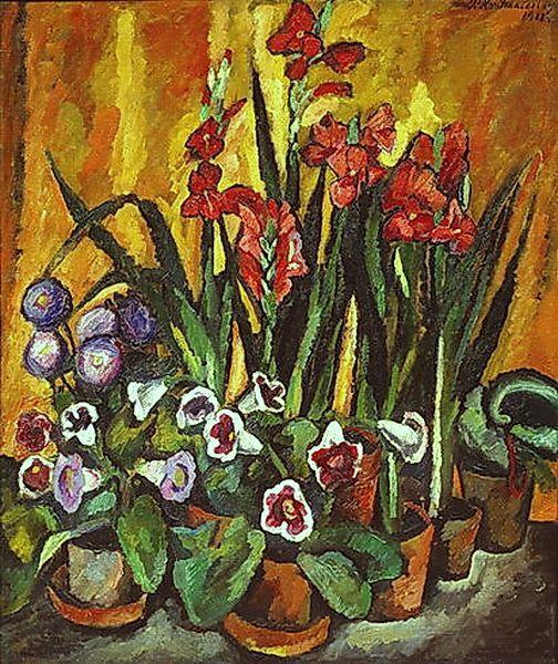 Still life with red gladioli - Pyotr Konchalovsky