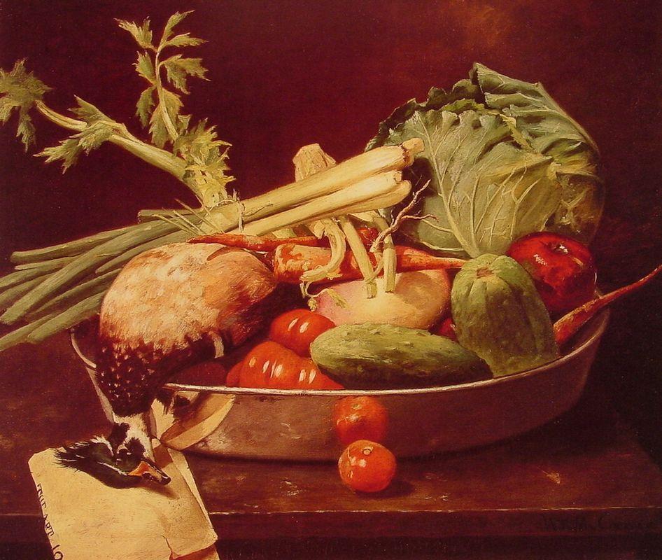 Still Life with Vegetable - William Merritt Chase