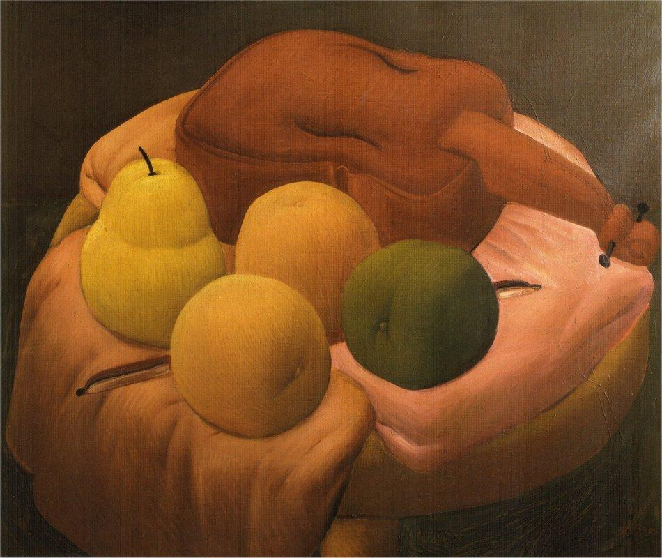 Still Life with Violin - Fernando Botero
