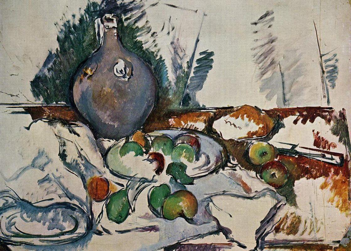 Still Life with Water Jug - Paul Cezanne