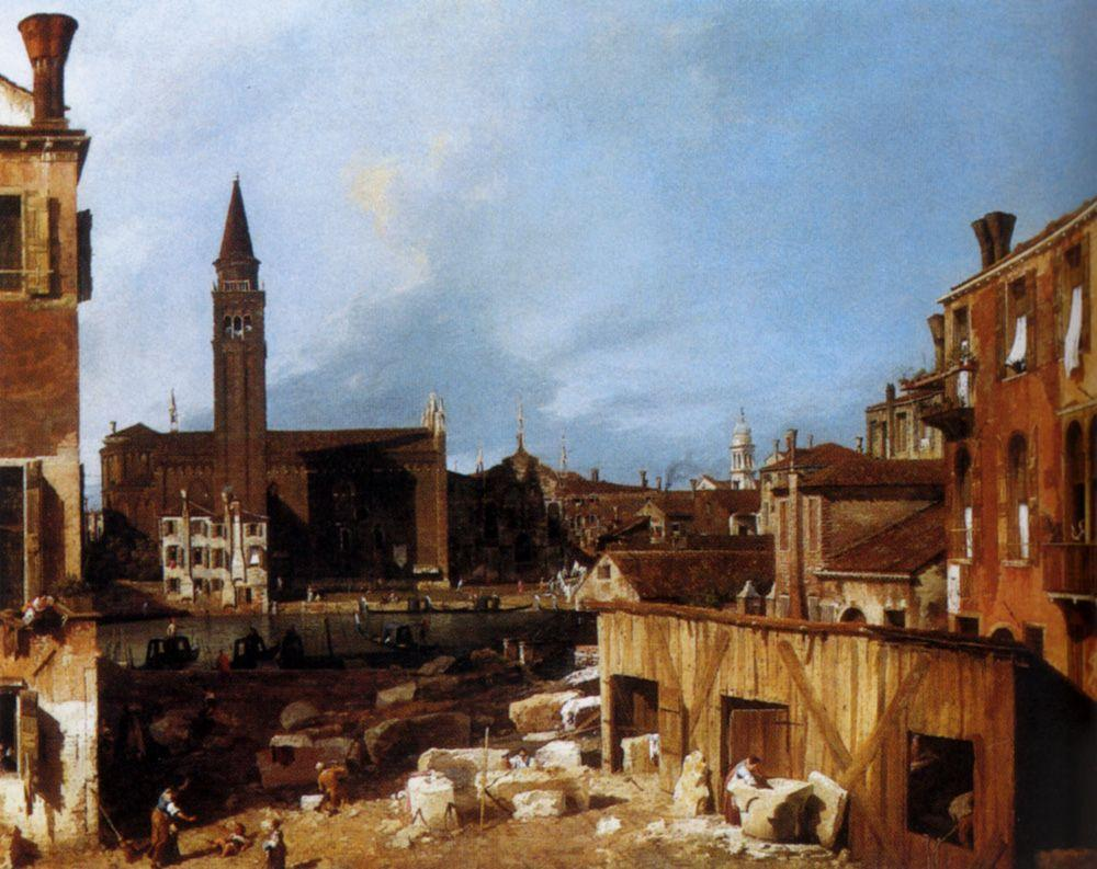 Stonemason's Yard - Canaletto