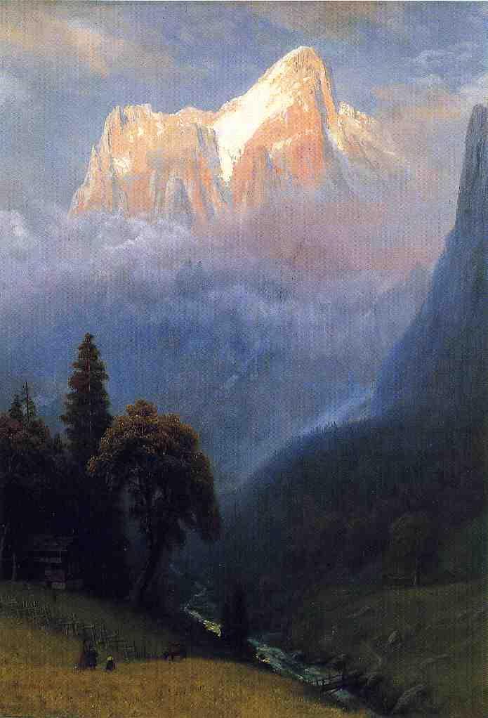 Storm Among the Alps - Albert Bierstadt
