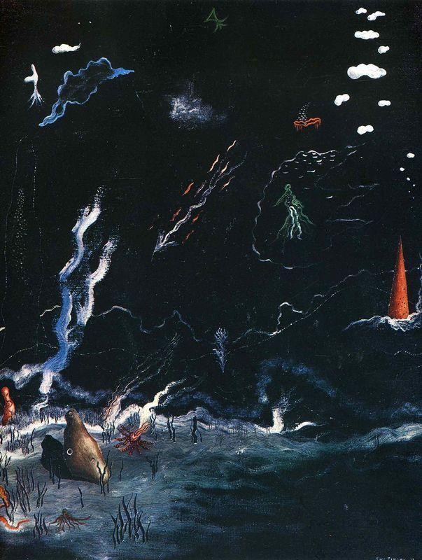 Storm(Black Landscape) - Yves Tanguy