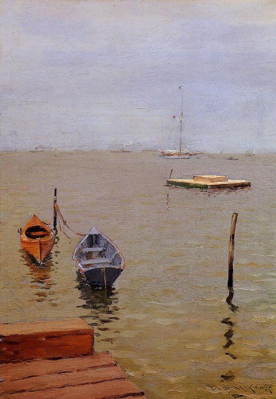 Stormy Day Bath Beach - William Merritt Chase
