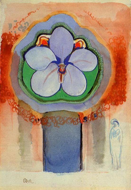 Strange Orchid - Odilon Redon