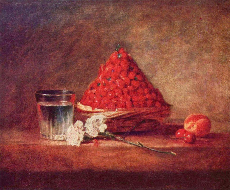 Strawberry Basket  Canasta de fresas - Jean-Baptiste-Simeon Chardin