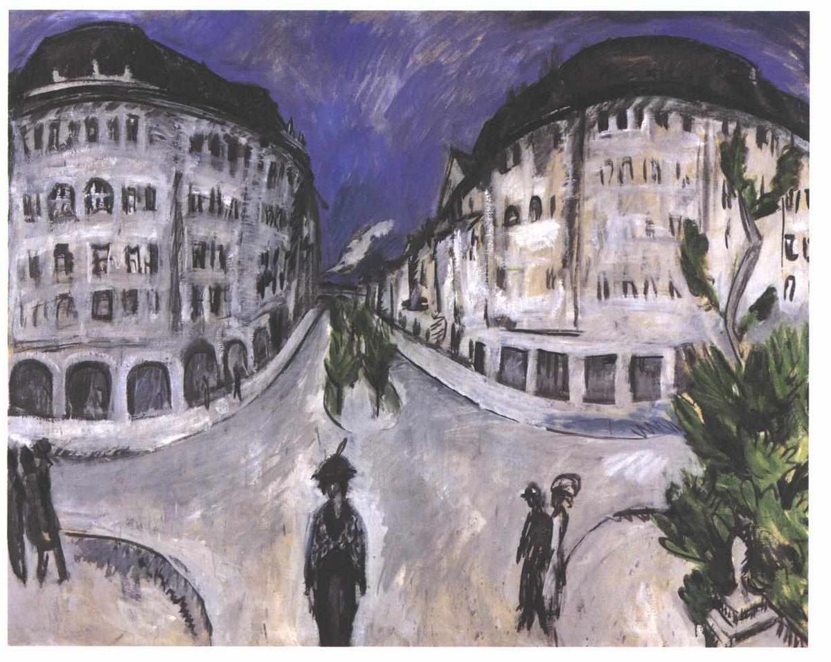 Street at Stadtpark - Ernst Ludwig Kirchner