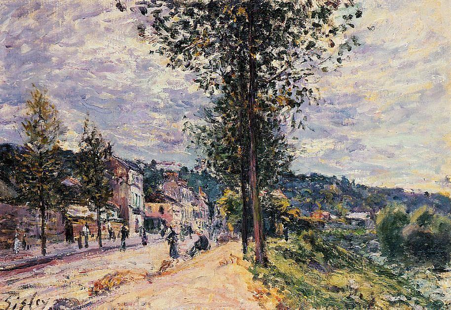 Street Entering the Village - Alfred Sisley