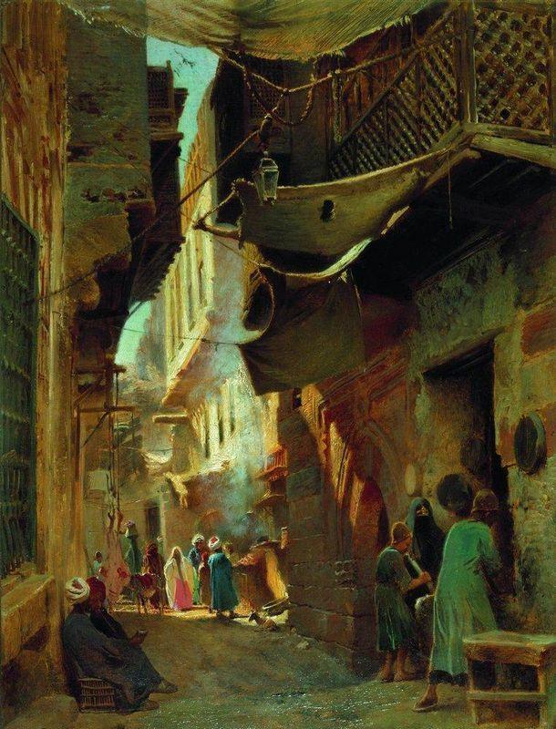 Street in Cairo - Konstantin Makovsky