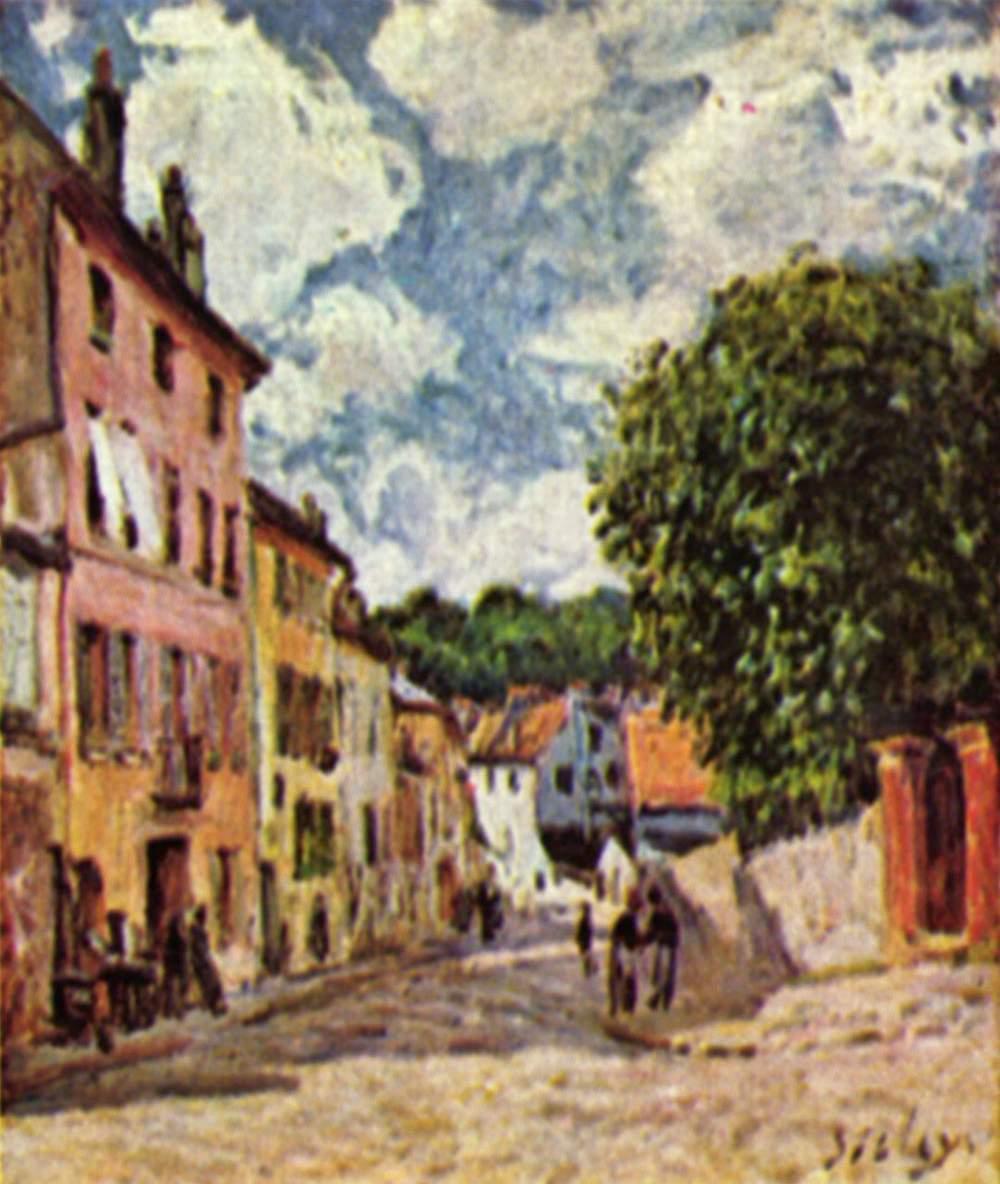 Street in Moret Sur Loing - Alfred Sisley