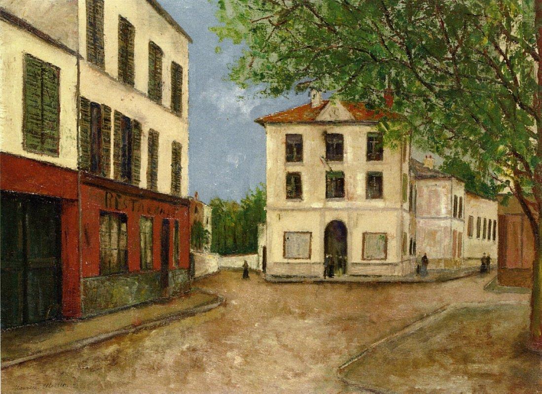 Street in Nanterre - Maurice Utrillo