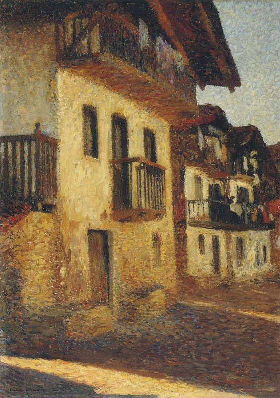 Street in the Village - Henri Martin