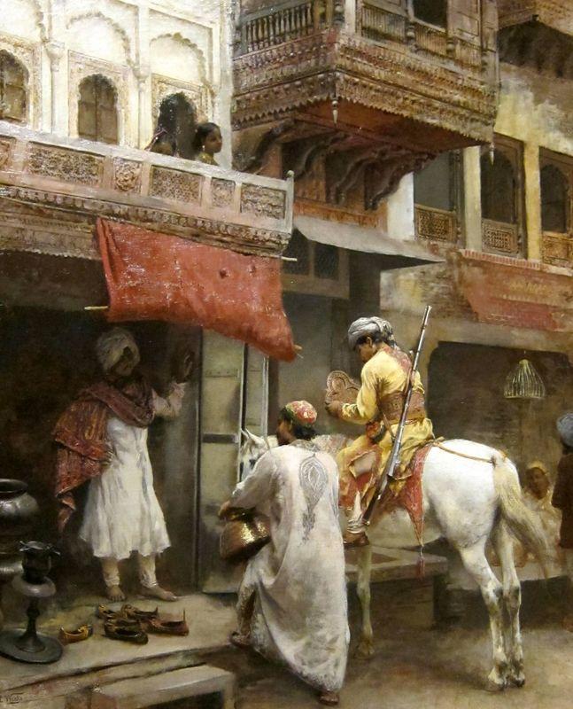 Street Scene In India - Edwin Lord Weeks