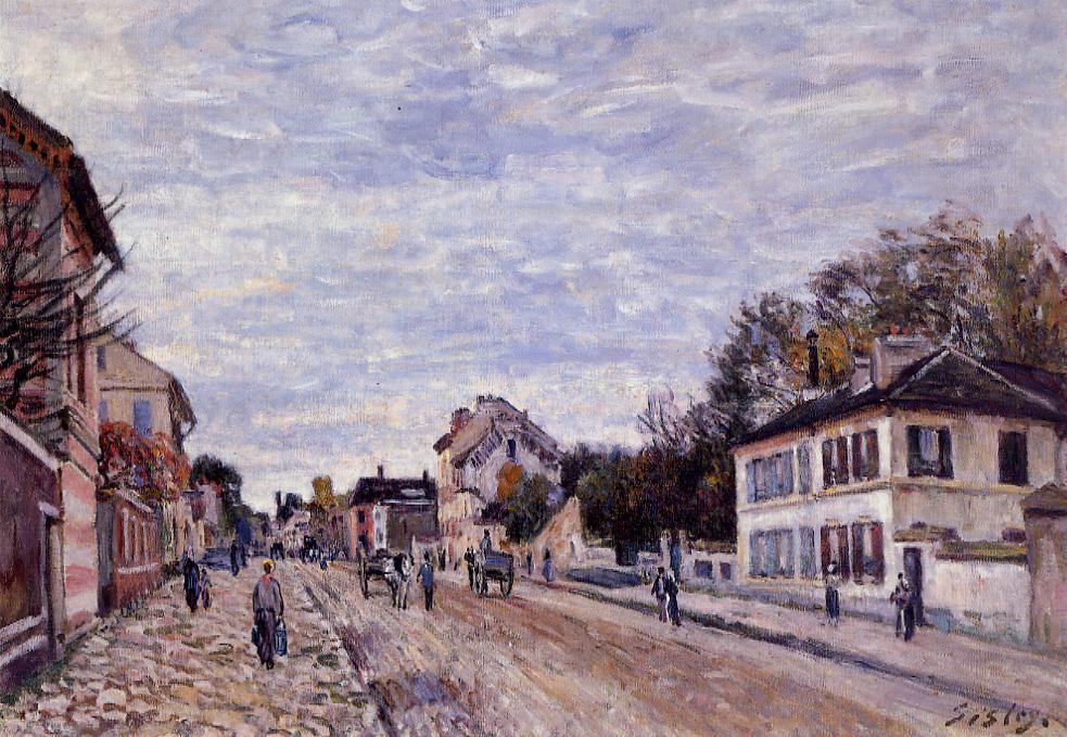 Street Scene in Marly - Alfred Sisley