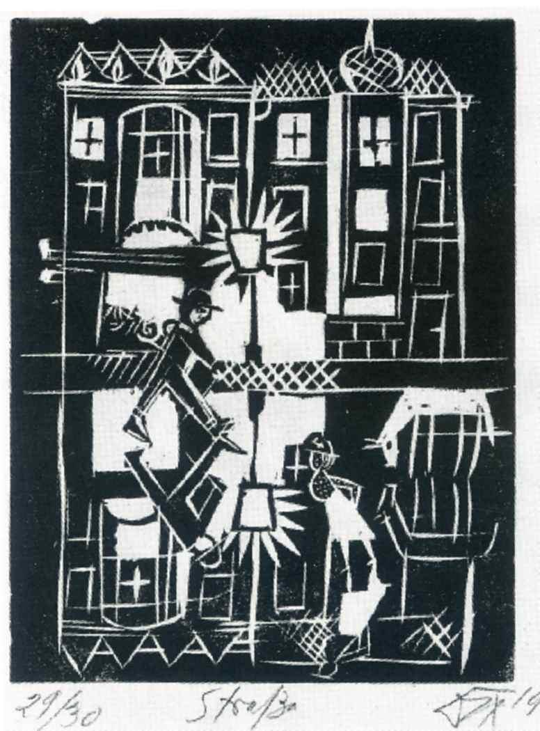Street (Strasse) from the portfolio Nine Woodcuts  - Otto Dix