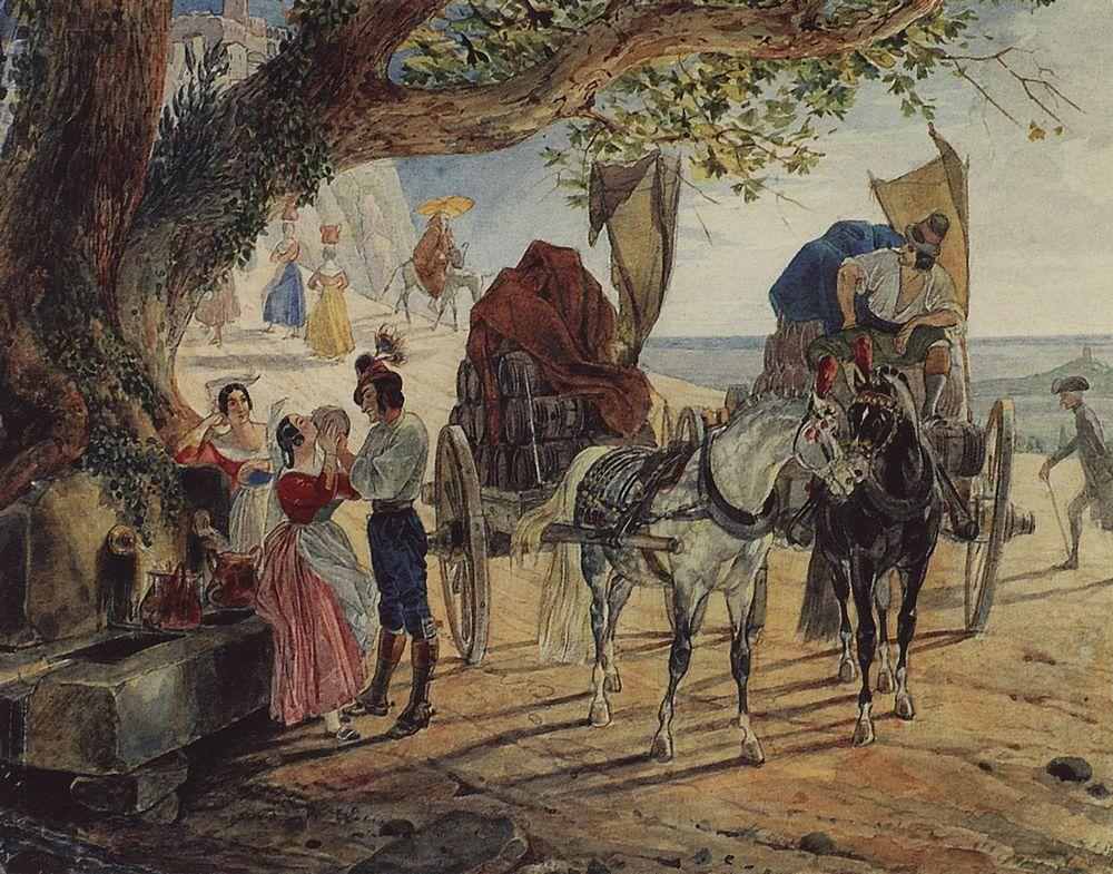 Stroll at Albano - Karl Bryullov