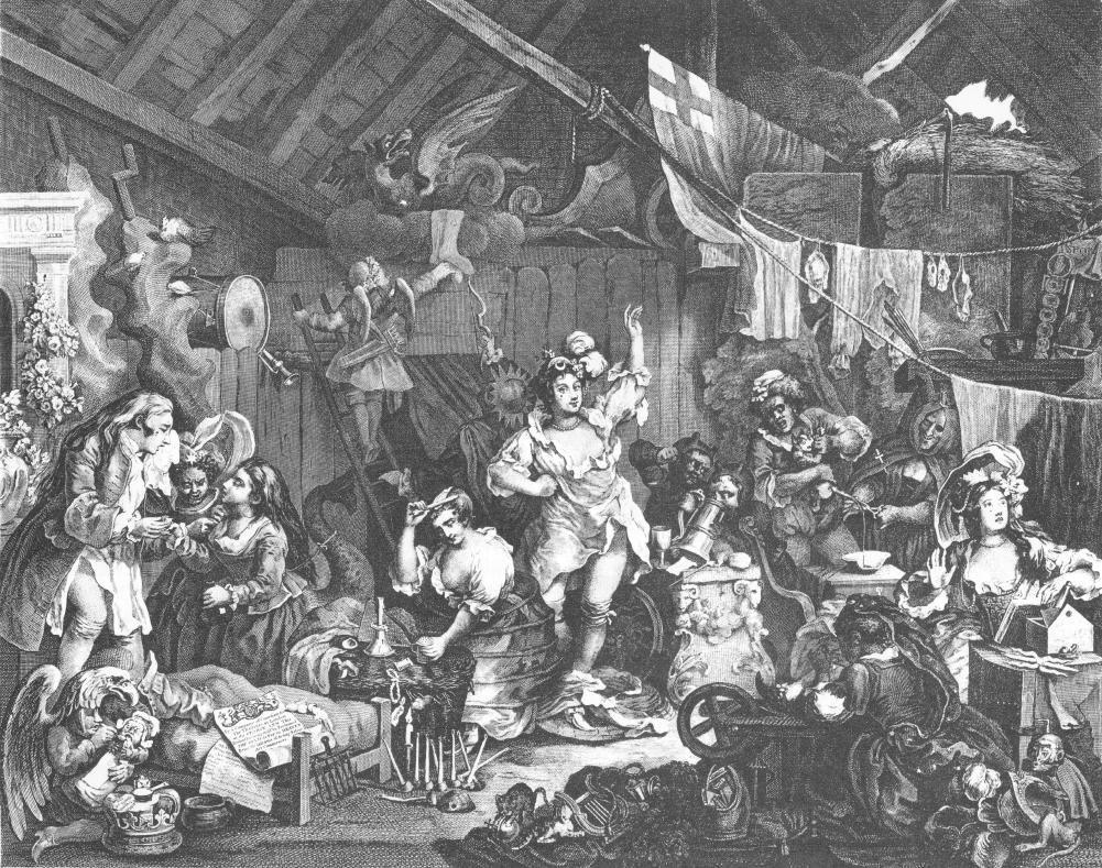 Strolling Actresses Dressing in Barn - William Hogarth