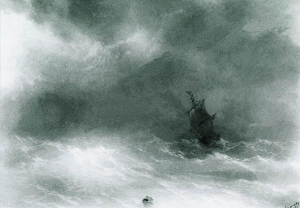 Strong wind - Ivan Aivazovsky