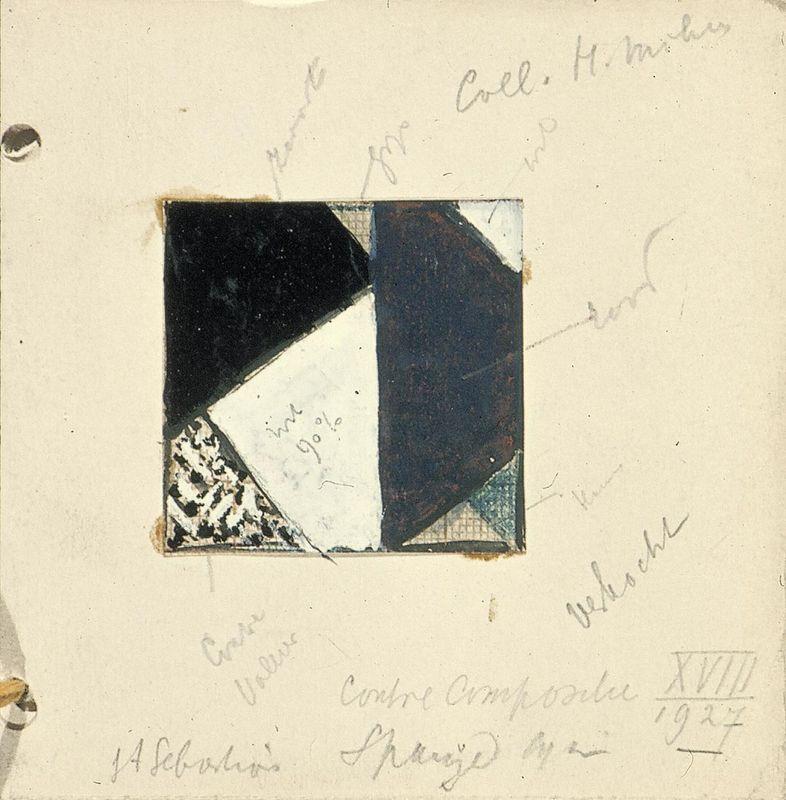 Studie voor Contra compositie XVIII - Theo van Doesburg