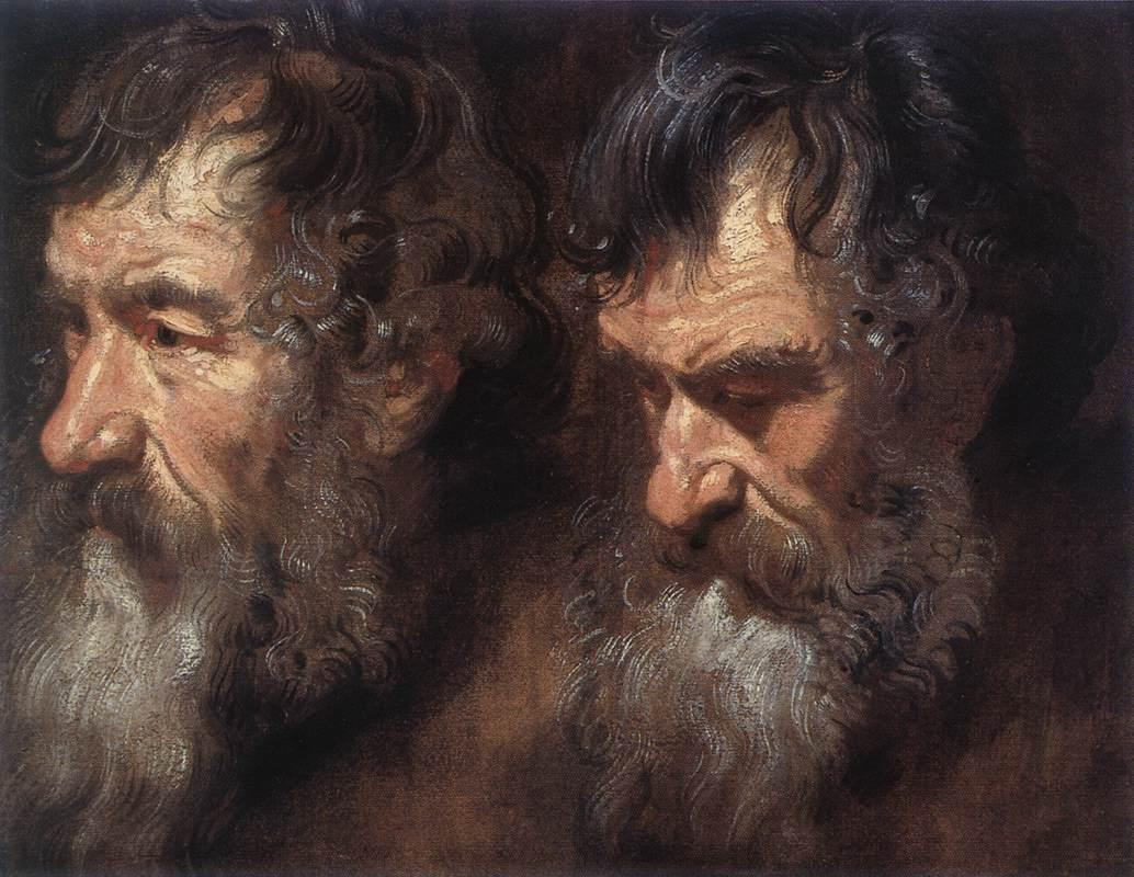 Studies of a Man0s Head - Anthony van Dyck