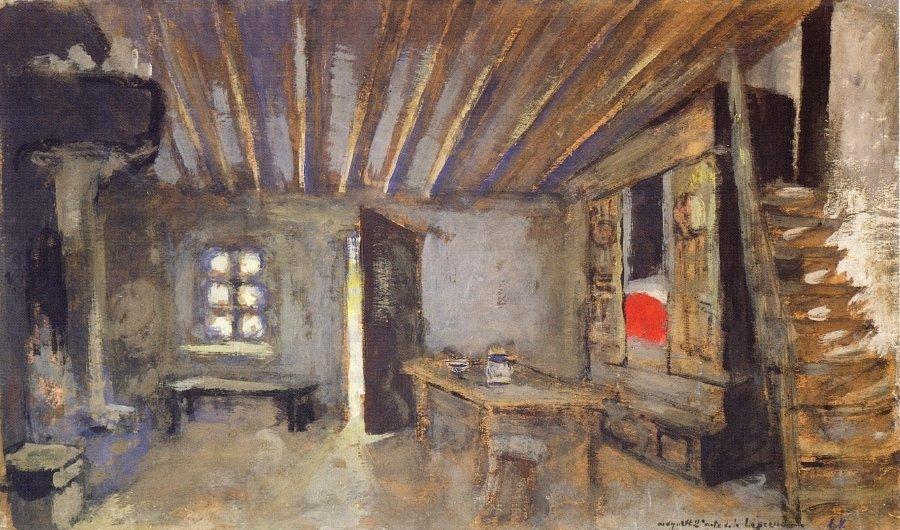 Studio Interior, Model for the Scenery of La Lepreuse - Edouard Vuillard