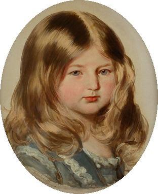 Study for a portrait of Princess Amalie of Saxe-Coburg-Gotha  - Franz Xaver Winterhalter